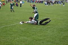 Alex grabs the ball